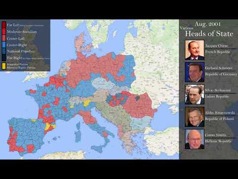 Political History of Europe, 1991-2018 (Every Month)