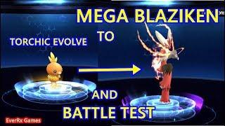 Pocket Arena (Pokeland Legends) - TORCHIC EVOLVE TO MEGA BLAZIKEN AND BATTLE TESTING