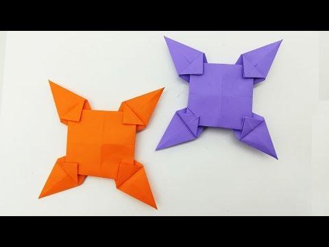 Power Ranger Ninja Star Making Easy Tutorial With Paper | Paper Throwing Star For Kids | YouTube