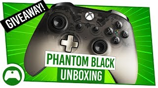 NEW Special Edition Xbox Phantom Black Controller Unboxing + Giveaway!