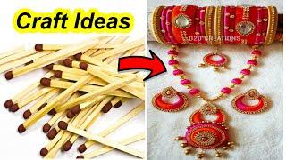 5 minute crafts || Crafts with waste materials || silk thread jewellery making || DIY Craft ideas
