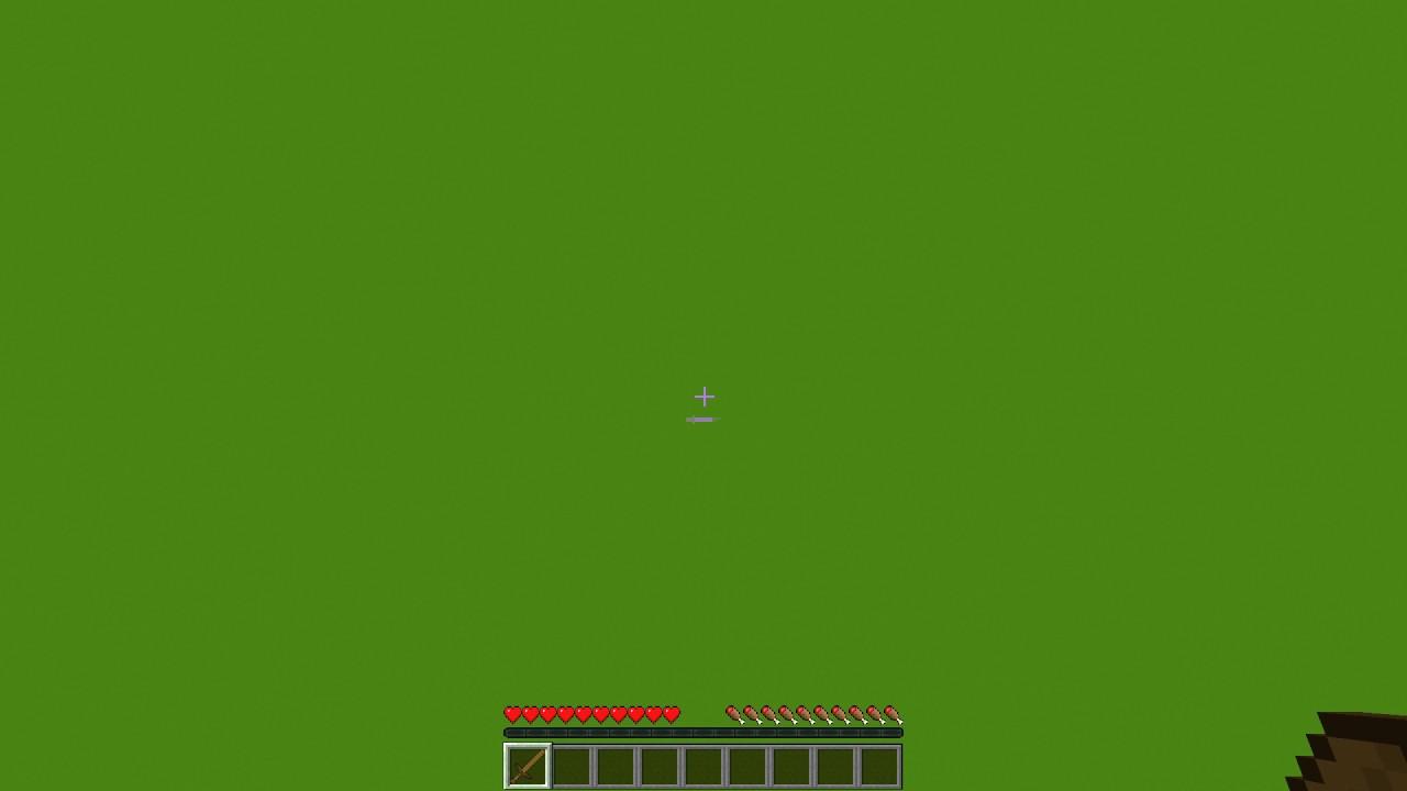 Minecraft Green Screen Wooden Sword   Large GUI