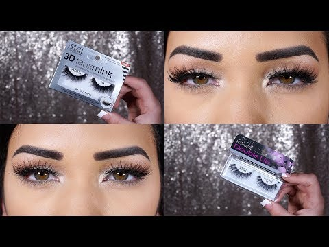 474eeb676d6 NEW! Ardell 3D Faux Mink + Double Up Try-On! - YouTube