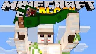 Minecraft Skyblock  : IRON GOLEM ATTACK!