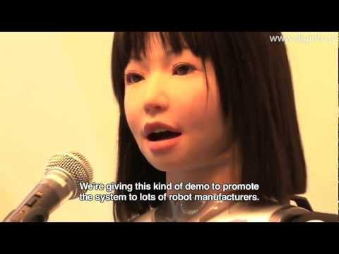 Sexy Yamaha Singing Robot  - World's First Sane Pop Star!