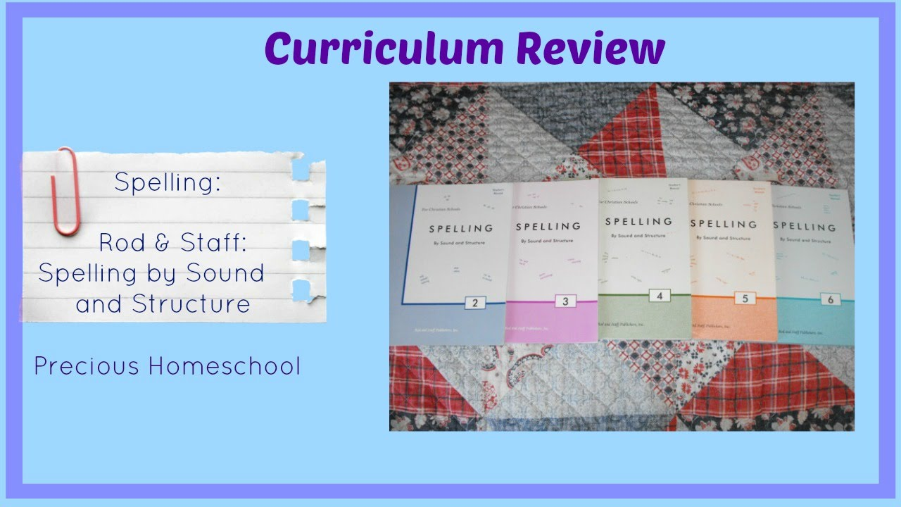 Workbooks rod and staff workbooks : Curriculum Review: Spelling: Rod & Staff Spelling by Sound ...