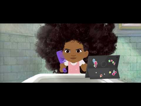 COOL CLIP: HAIR LOVE!!!! A Black Dad Loving on his Daughter's curls!