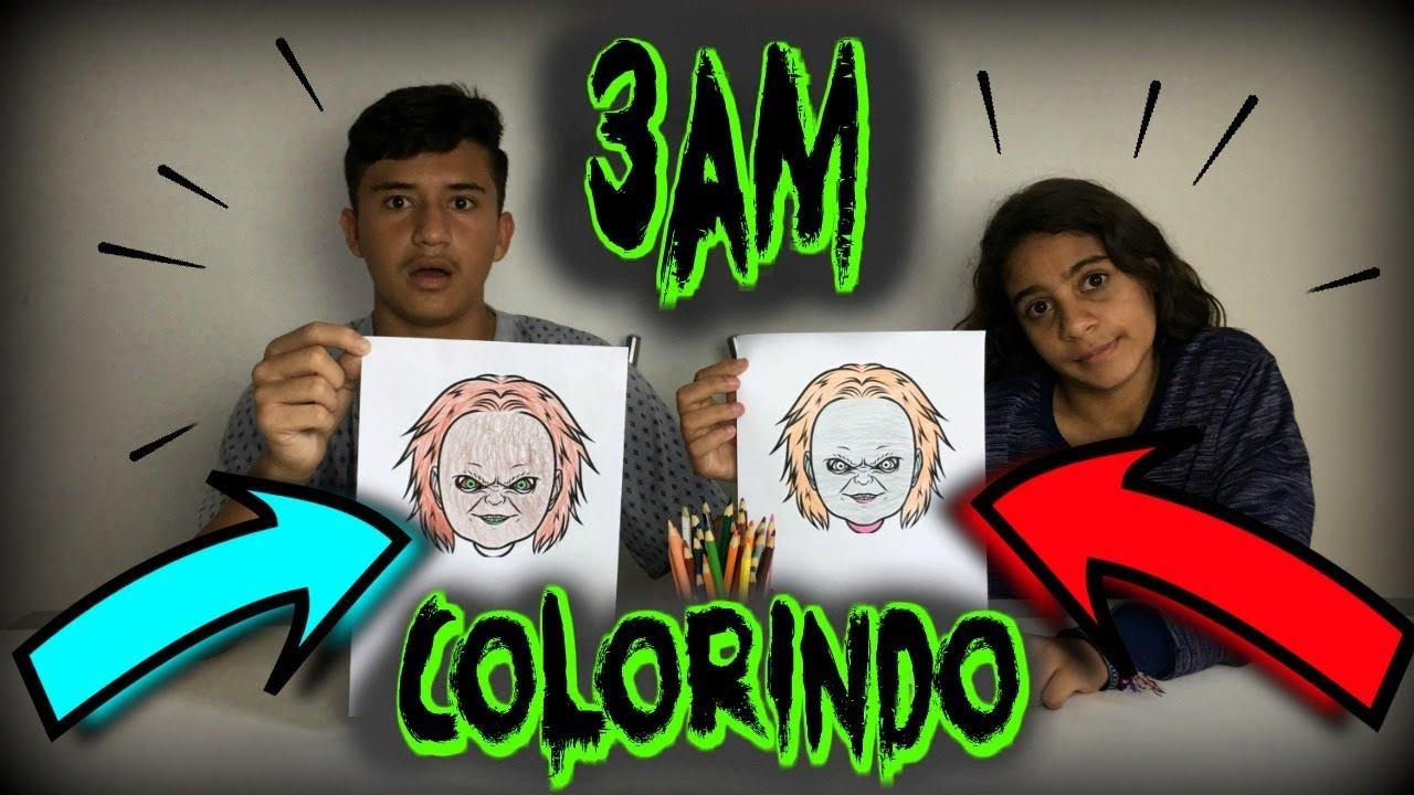 Nao Faca O Desafio Colorindo Desenho De Terror Com 3 Cores As 3