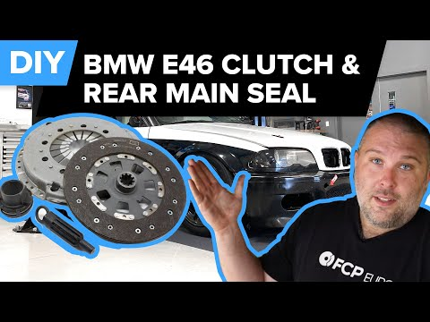BMW E46 Clutch, Flywheel & Rear Main Seal Replacement DIY (330i, 325i, 330ci, 323i, 325ci, & More)