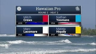 2016 Hawaiian Pro: Round Two, Heat 2