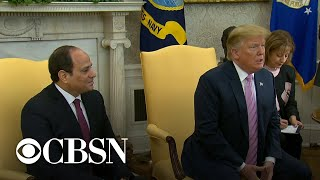 Egypt's President el-Sisi visits White House, seeks to extend his term to 2034