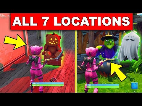 """""""Destroy a Ghost Decoration in different Named Locations"""" - ALL 7 LOCATIONS FORTNITEMARE CHALLENGES!"""