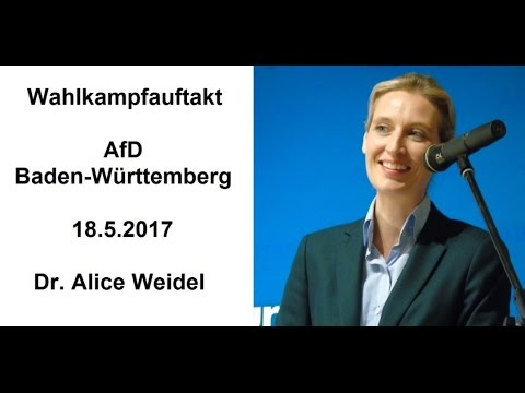 Wahlkampfauftakt, AfD-BW, Dr. Alice Weidel