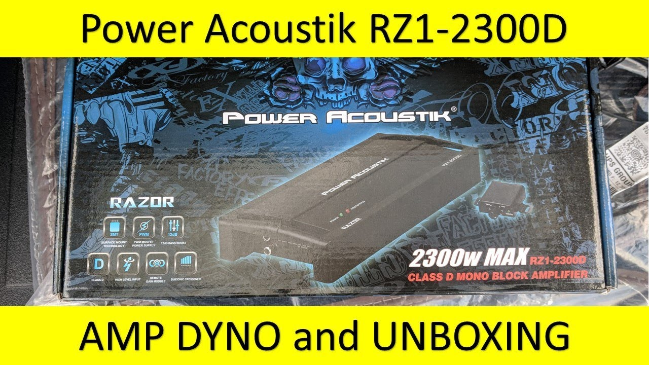 Power Acoustik Rz1 2300d Amp Dyno And Unboxing Youtube