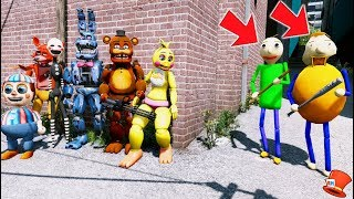 CAN THE ANIMATRONICS DEFEAT BALDI BASICS & BULLY? (GTA 5 Mods FNAF Kids FNAF RedHatter)