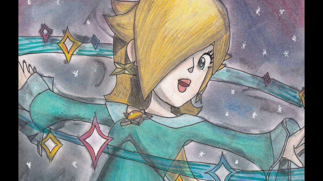 How to Draw Super Mario Paper, Priness Daisy & Rosalina #194 ... | 720x1280