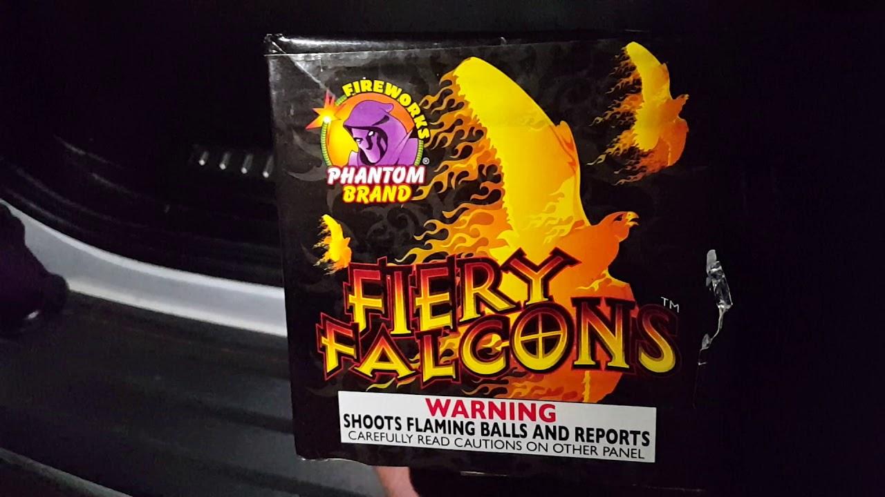 Fiery falcons 200g cake phantom fireworks demo