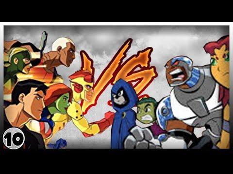 Young Justice VS Teen Titans