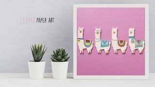 Llama Paper Art   Paper craft   Canvas art