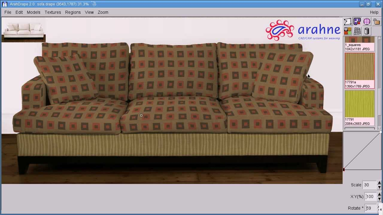 Creating Seamless Fabric Textureapping Them On A Sofa