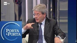 Caso Sea Watch e politiche migratorie: il commento di Paolo Gentiloni - Porta a Porta 20/05/2019