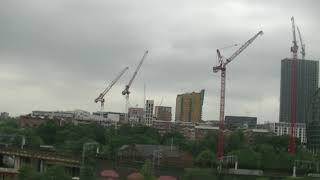 Time Lapse of the Manchester skyline over 8 hours