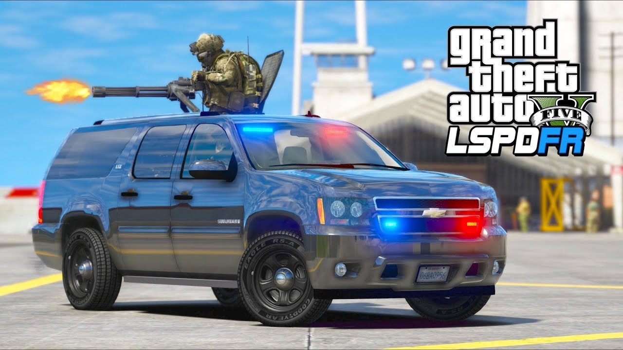 GTA 5 Mods - SWAT Defends Attacked Police Station!! (LSPDFR Gameplay)
