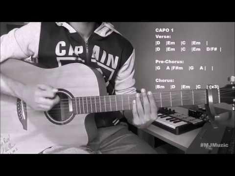 Flames (David Guetta feat. Sia) || Guitar Chords Tutorial - MJ ||