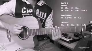 Flames (David Guetta feat. Sia) || Guitar Chords Tutorial - MJ || Video