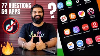 77 Questions To TikTok & 58 Other Apps - TikTok Permanent BAN?🔥🔥🔥