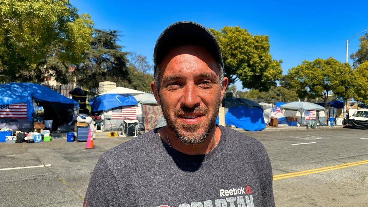 Inside VETERANS ROW: Homeless Vets Outside Los Angeles's VA