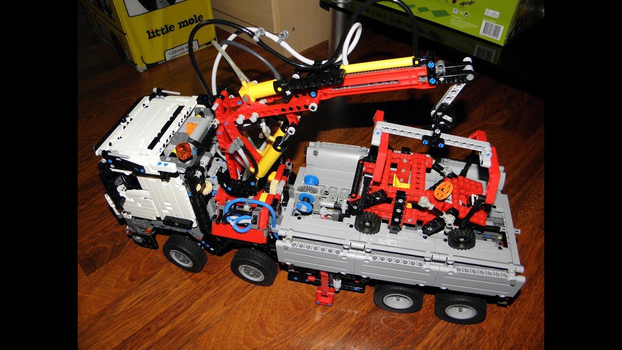 lego technic 42043 tow truck moc update youtube. Black Bedroom Furniture Sets. Home Design Ideas