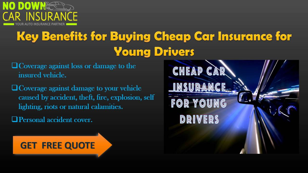 Cheap Car Insurance Quotes For Young Drivers What You Can Do To Get The Best Deal