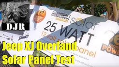 HF 25 Watt Solar Panel Unbox & Review -  Jeep Cherokee XJ Overland Mods