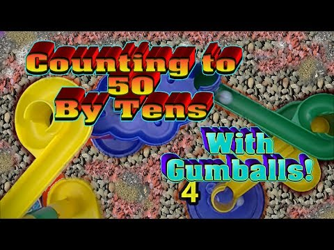 Counting by 10 to 50 Using Colorful Gumballs and a Marble Maze!