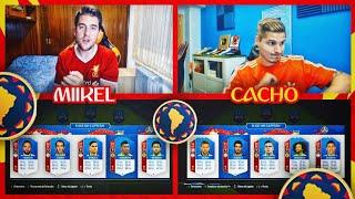 EUROPA VS SUDAMÉRICA FUT DRAFT CHALLENGE VS CACHO !! | FIFA MUNDIAL