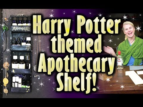 Potter Themed Apothecary Shelves! Crafting With Cocktails (4.06)