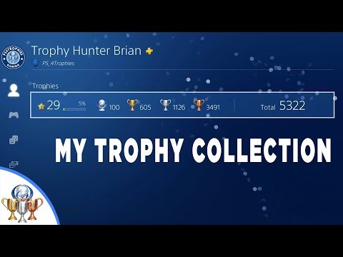 My PSN Trophies Collection on PS4 - 215 Games, 100 Platinums (Fixed Audio at 1h20m)