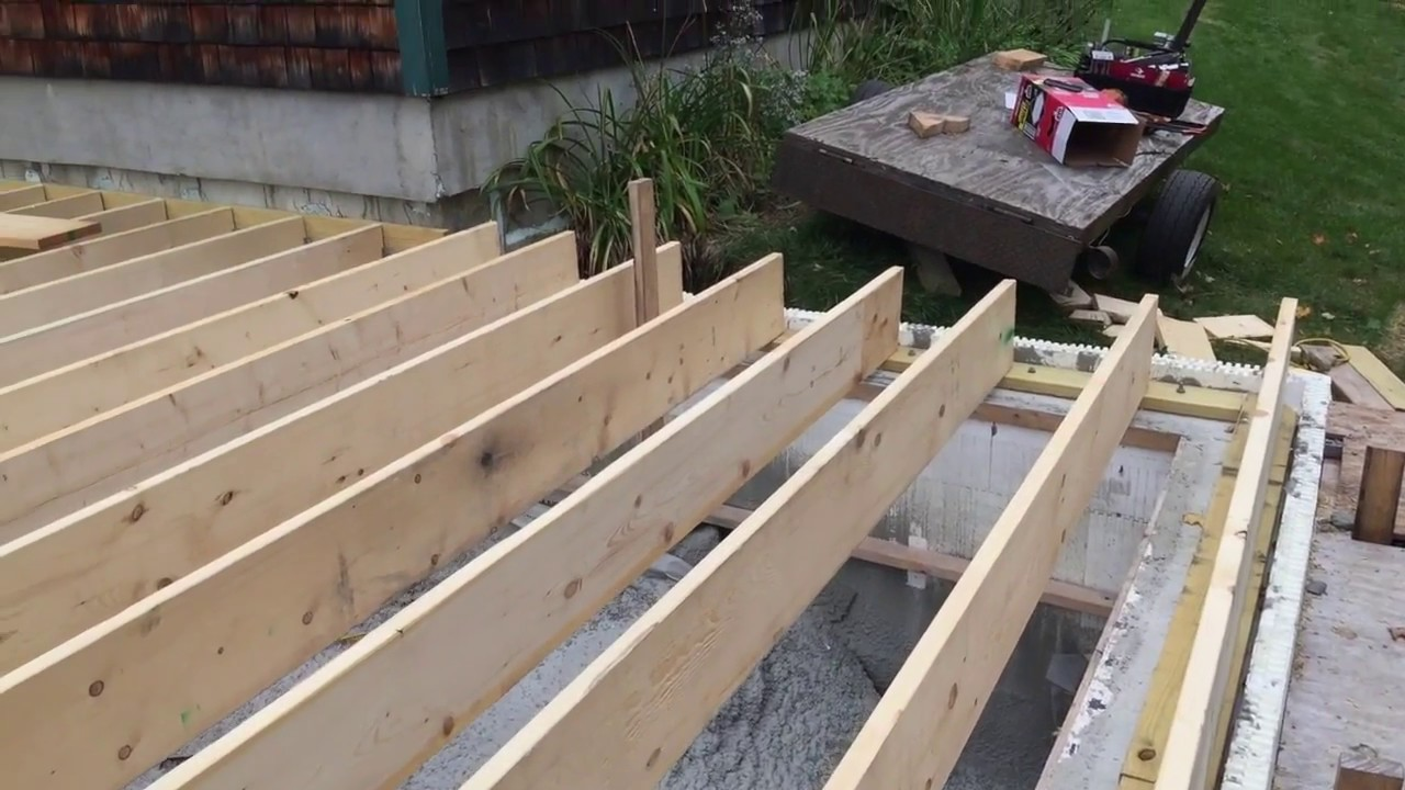 Build Log Floor Joists Layout And Installed Youtube