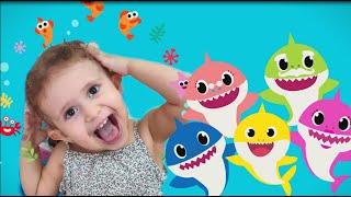 Baby Shark pretend play بيبي شارك شفا 2020  تلوين ورقص