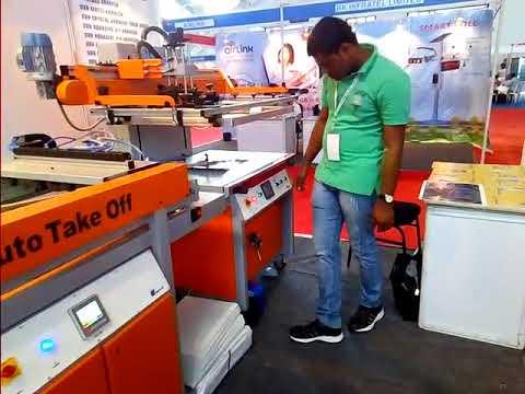 Screen Printing Machine With Auto Take Off & UV