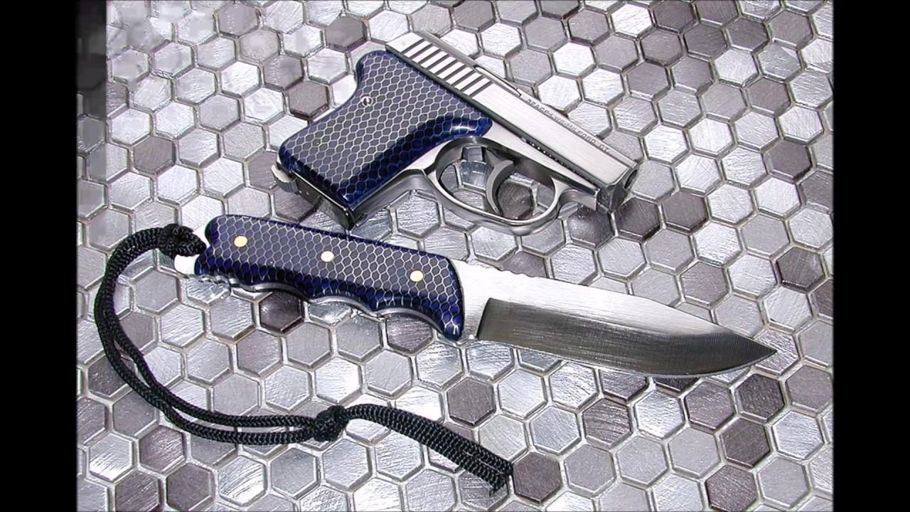 Custom Blue C-Tek Grips For Seecamp LWS  32