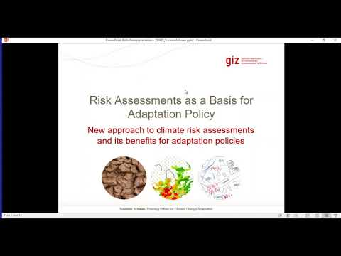 Climate risk assessments in the adaptation policy context
