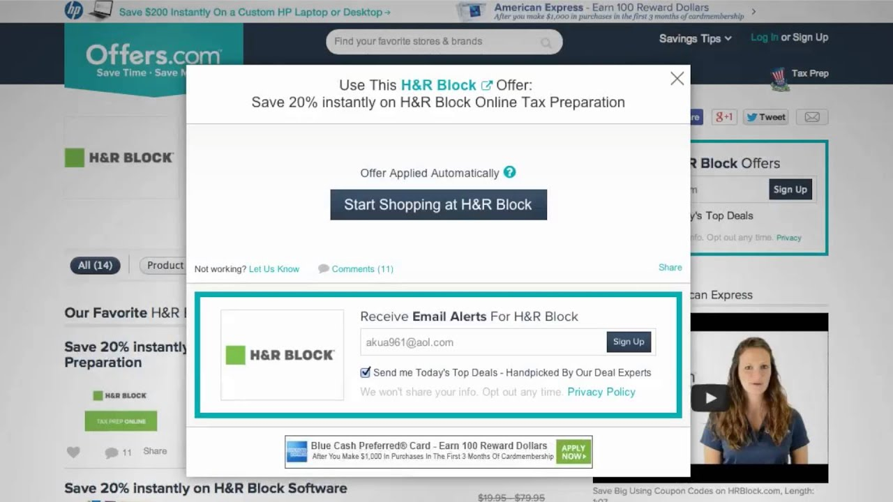 H&r block coupon codes 2018