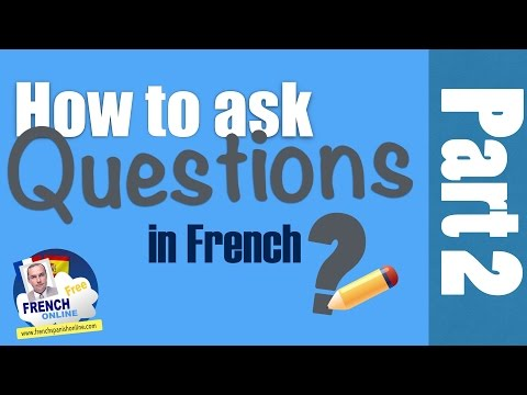 How to write can i ask you a question in french