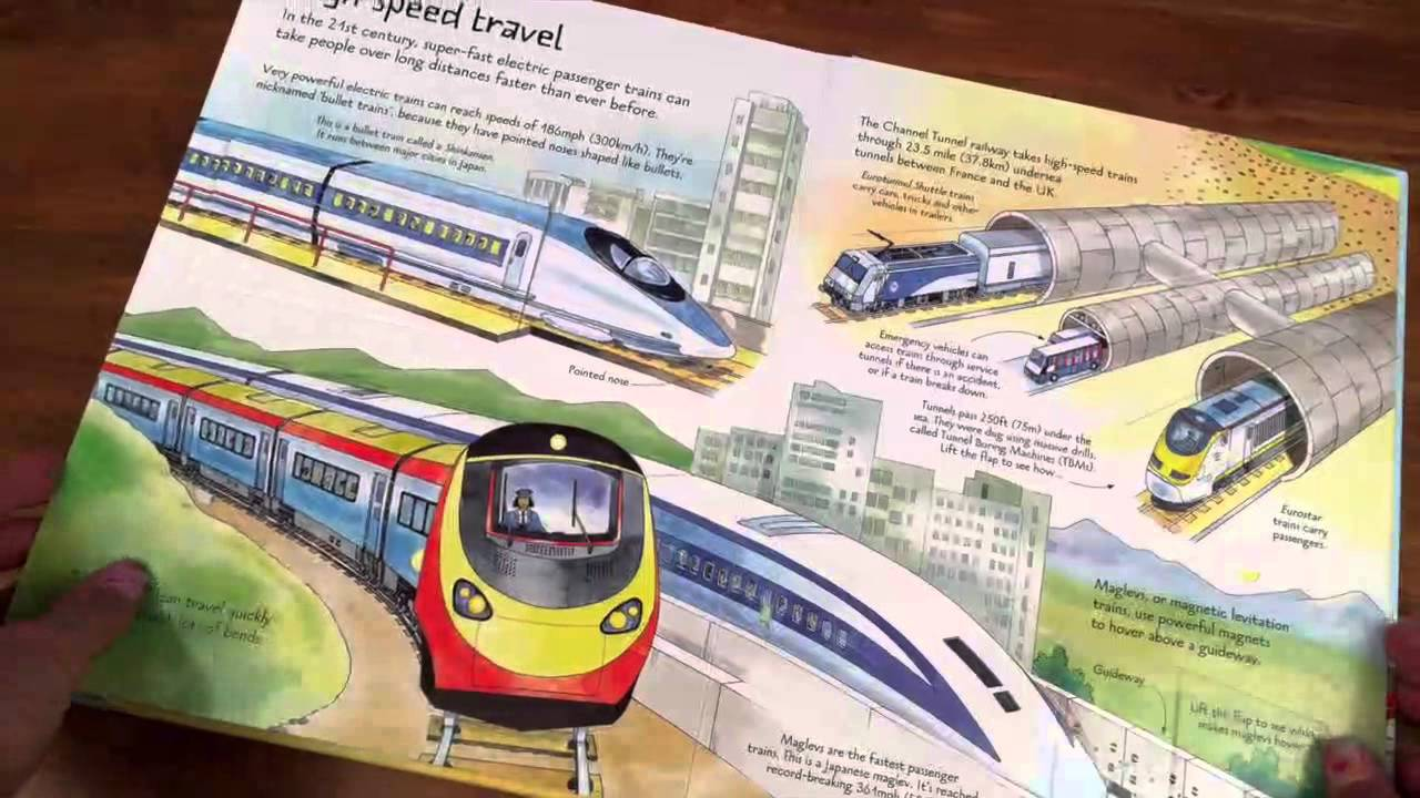"""Look inside trains"" at Usborne Children's Books"