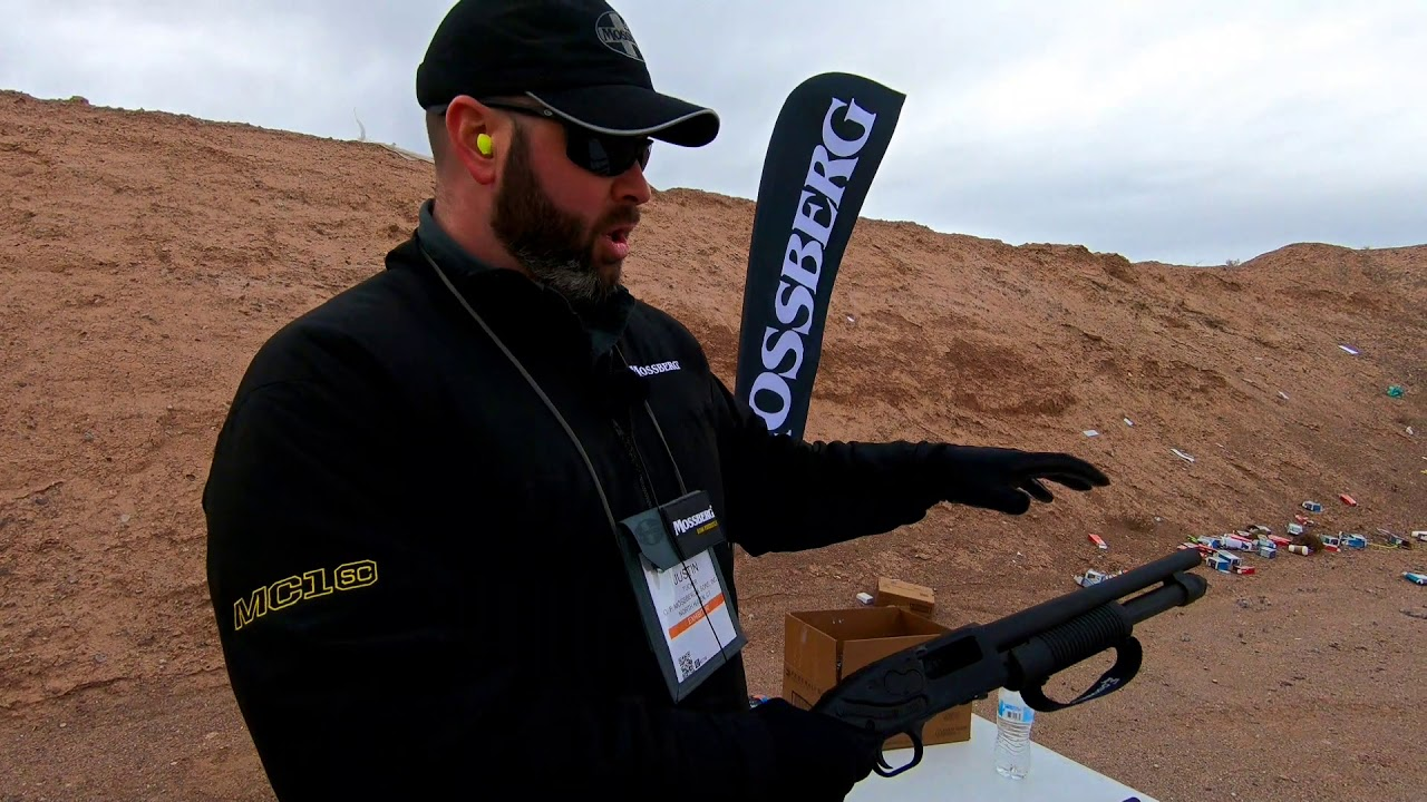 Mossberg Retrograde Nightstick 590 Shockwave at SHOT Show 2019