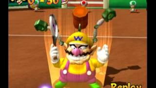 Mario Power Tennis (Nintendo GameCube) Playthrough - Part 5 {Flower Cup - Singles}