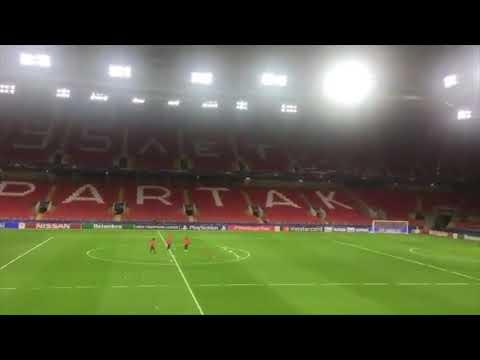 Radio Marca: Entrenamiento del Sevilla en Moscú
