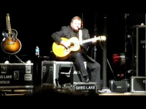 Greg Lake - I Believe in Father Christmas (with introduction) LIVE - Atlanta - April 26, 2012